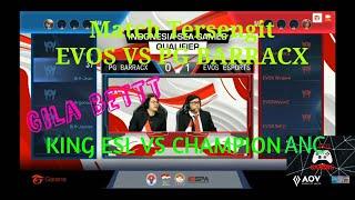 Pertandingan sengit banget EVOS VS PG BARRACX Match 2- AOV SEA GAMES QUALIFIER