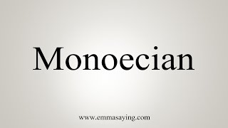 How To Say Monoecian