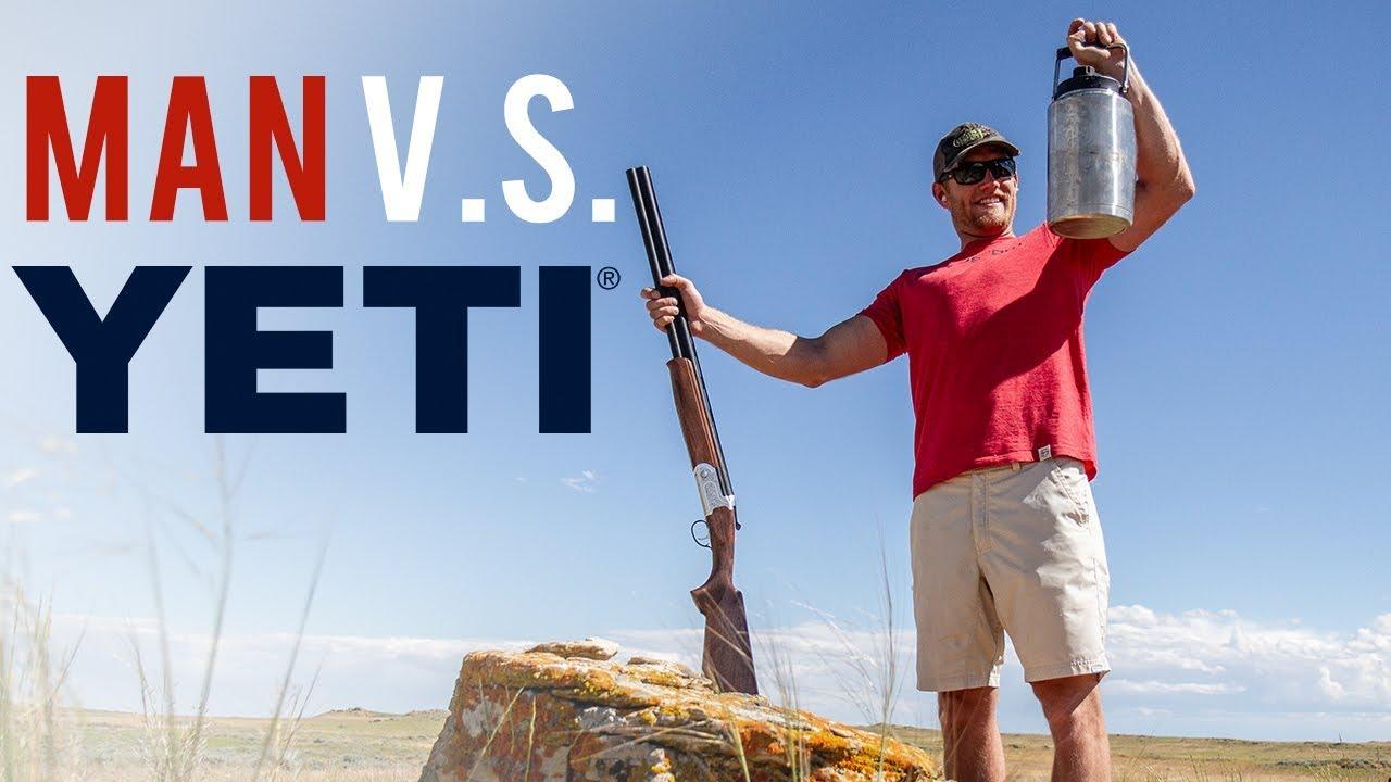 YETI Rambler vs  Man - A YETI Durability Test of the Rambler One Gallon Jug