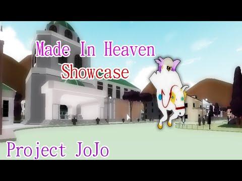 Roblox Project Jojo Made In Heaven Showcase смотри Made In Heaven Showcase Roblox Project Jojo Youtube