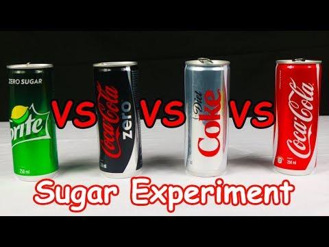 Coke vs Coke Zero vs Diet Coke vs Sprite Zero Experiment | Coke Experiment | Diet Coke vs Coke Zero