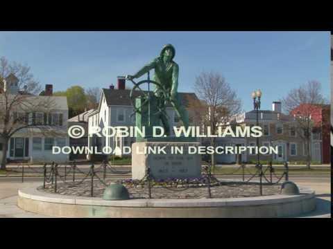 Fisherman's Bronze Statue Gloucester, Massachusetts - USA