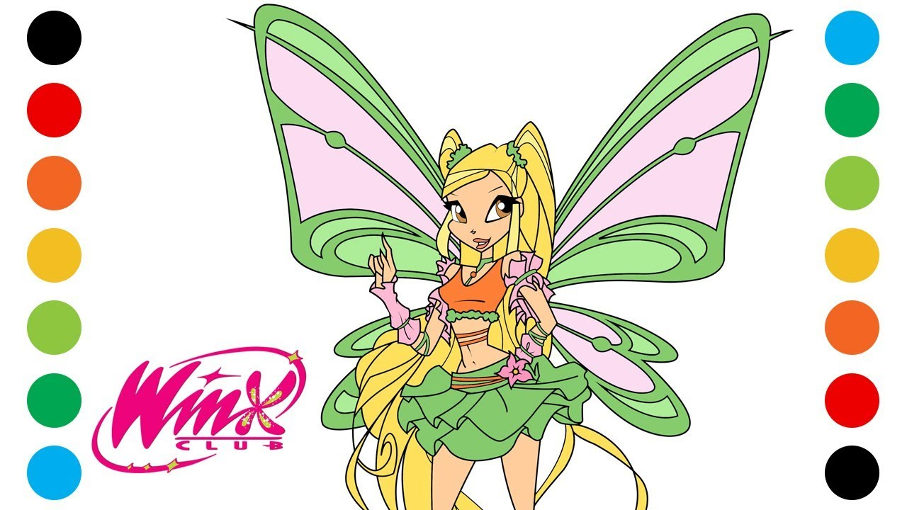 Winx Club Stella Sophix Coloring Pages For Kids Digital Coloring