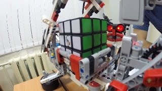 Сборка Кубика Рубика роботом LEGO Mindstorms EV3 . Уфа, кружок робототехники