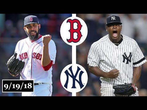 Boston Red Sox vs New York Yankees Highlights || September 19, 2018
