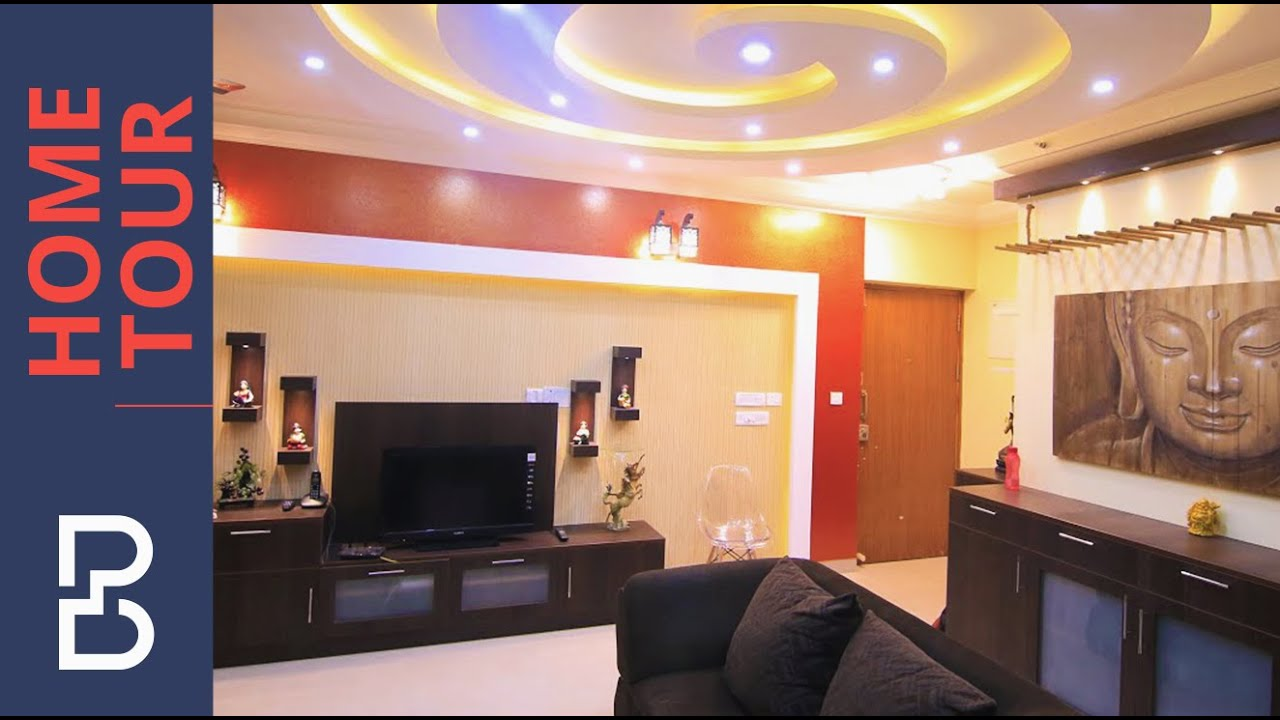 Sandeep Raou0027s House | Interior Design | Salarpuria Senorita Apartments |  Bangalore   YouTube