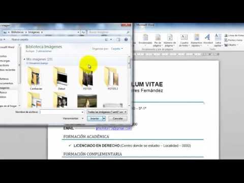 Poner Foto Al Curriculum Youtube