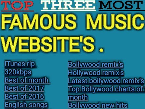 Top three most famous websites for music Download