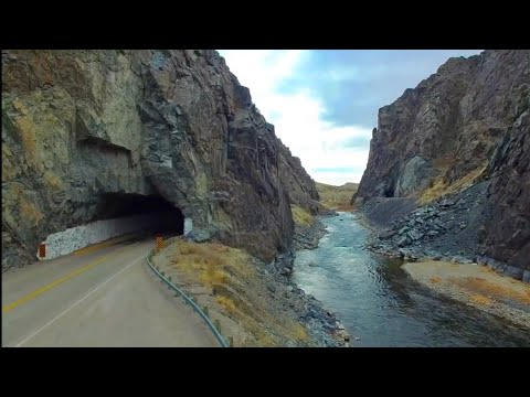 Wind River Canyon  From Above in HD