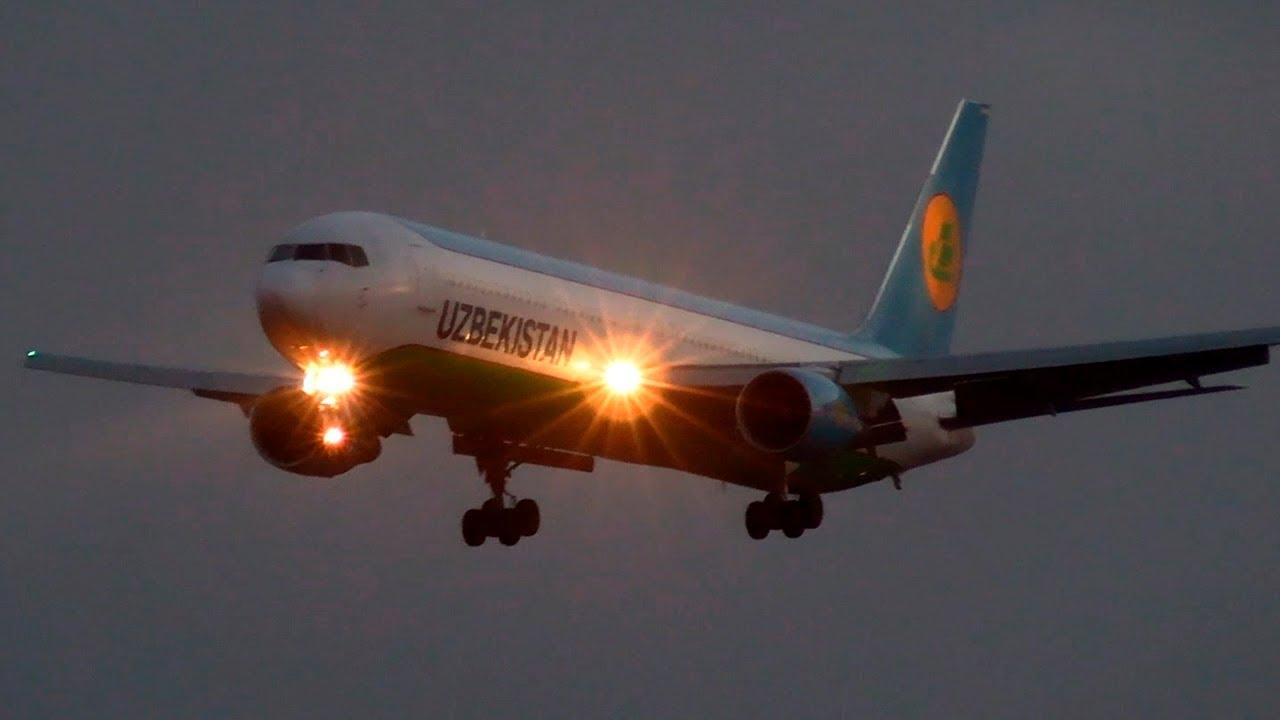"""Боинг 767 авиакомпании """"Узбекские авиалинии"""", рейсом из Мюнхена в Москву (2020)"""