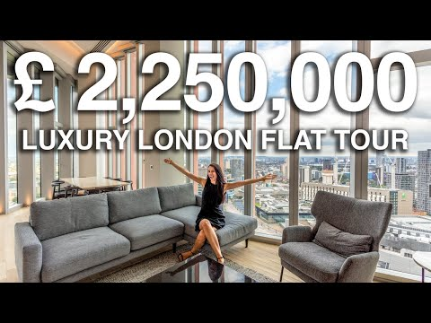 Touring a £2.25 Million Luxury Loft in LDN (insane views) | London Flat Tours