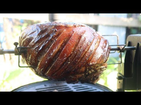 How To Cook A Pork Leg Rotisserie On The Ozpig Wood Fired
