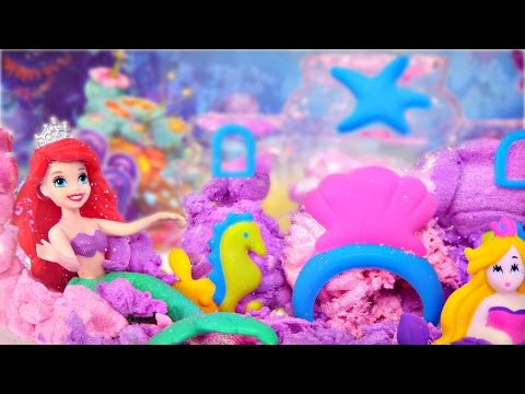 Cra-Z-art Mermaid Sqand Castle Princess Ariel's Underwater Sand Cove Toy Crafts for Kids
