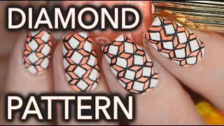 Geometric intricate diamond nail art???