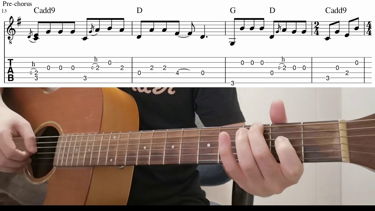 Easy Guitar Chords When You Say Nothing At All