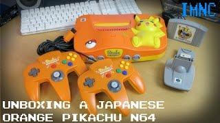Japanese Orange Pikachu Edition Nintendo 64 Unboxing | IMNC