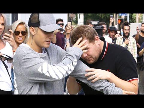 Justin Bieber Enjoying Attention From James Corden