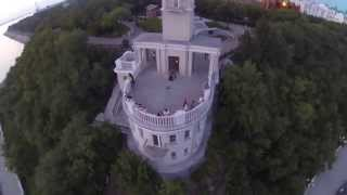 Хабаровск набережная Утес памятник(Пролет на квадракоптере., 2014-08-15T02:17:42.000Z)