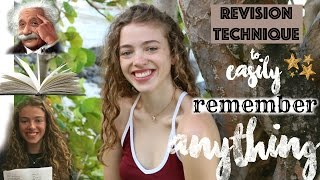 The Revision Technique No One Tells You: How to EASILY Remember Anything! (How I Got All A* at GCSE)