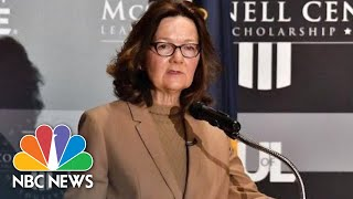 CIA Director Gina Haspel Comments On Agency's New Direction | NBC News