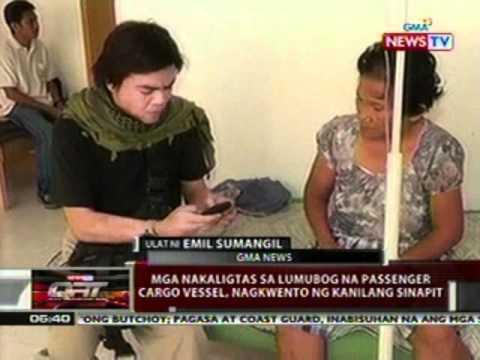 QRT: Mga nakaligtas sa lumubog na   passenger cargo vessel, nagkwento ng   kanilang sinapit
