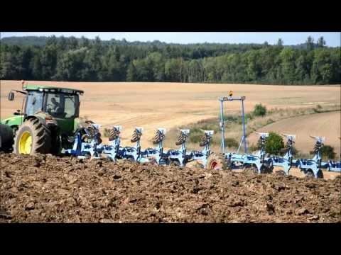 Big John Deere Ploughing with Big Plough in France !