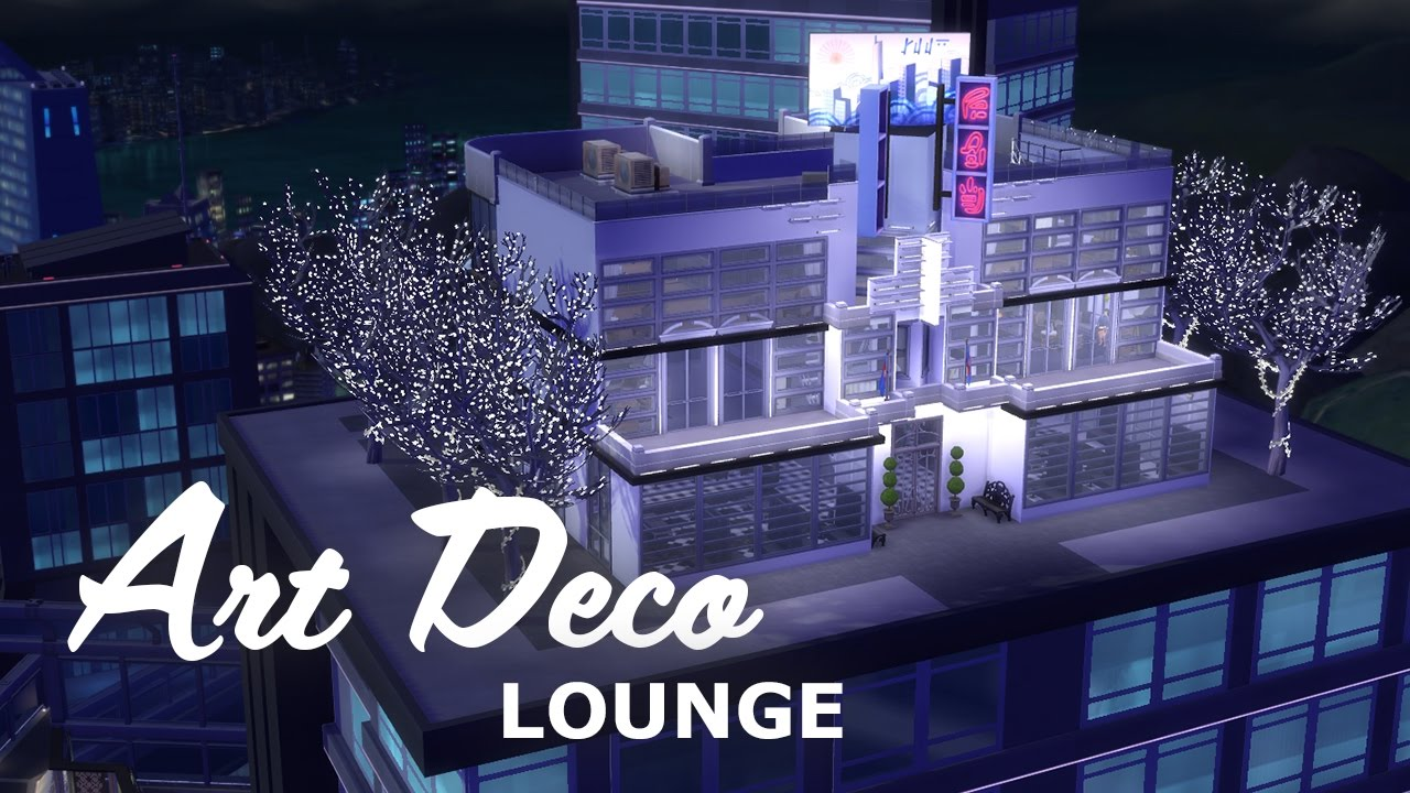 Sims speedbuild s art deco lounge youtube