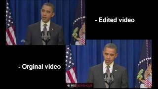 Obama Kicks Door Open [Original Video, Comparison]