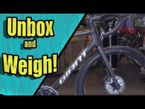 2021 Giant TCR Advanced Pro 1 Disc Unboxing And Weight!