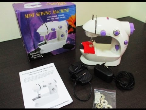 Tutorial How To Operate The Mini Sewing Machine YouTube Magnificent How To Sew Using Sewing Machine