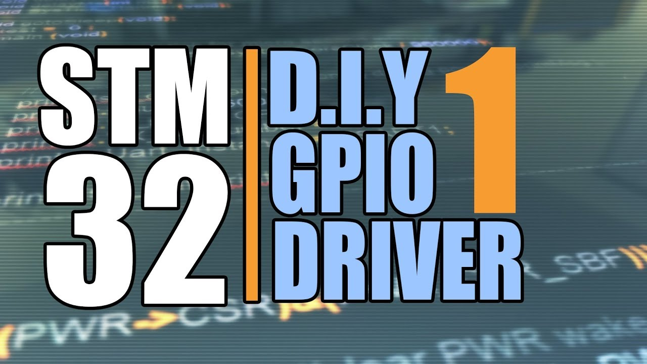 Stm32 Peripheral Drivers from Scartch : GPIO Programming Part 1