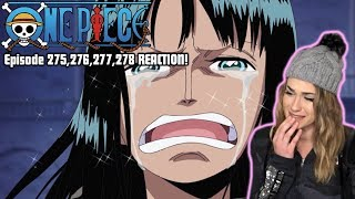 ROBIN WANTS TO LIVE! One Piece Episode 275,276,277,278 REACTION!