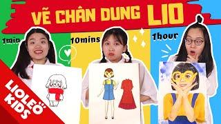 So tài vẽ chị LIO 1 phút vs 10 phút vs 1 tiếng - Ngôi vị