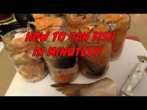 HOW TO CAN FISH IN MINUTES!!