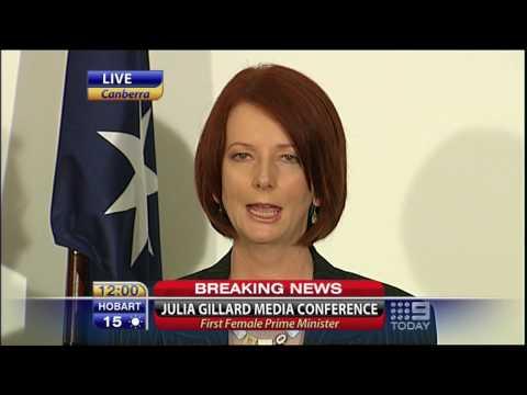 Julia Gillard after Rudd Australian Prime Minister Speech Full HD 24 June 2010