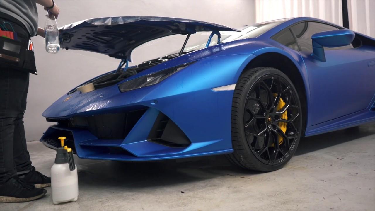 Vinilado en protección (PPF) en el Lamborghini HURACAN EVO