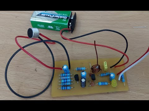 Simple FM Transmitter Circuit Design, make by yourself step by step