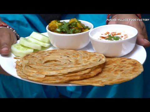 Paratha 💖 Lachha Paratha 💖 Lachha Paratha Recipe 💖 Village Food 💖 Easy Breakfast Recipes