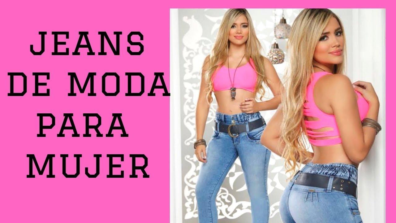Jeans De Mujer De Moda Para Este Ano 2019 Youtube
