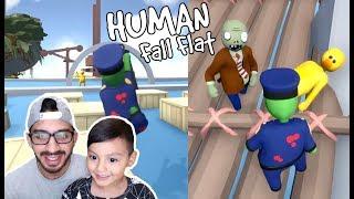 Zombies en el Mundo de Plastilina | Aventura en Human Fall Flat | Juegos Karim Juega