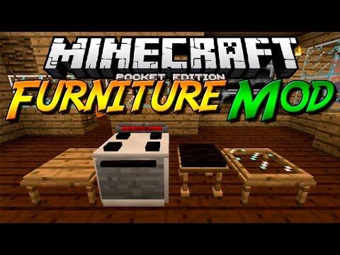FURNITURE MOD PARA MINECRAFT PE (POCKET EDITION) 0.12.1 | Mods Para Minecraft PE 0.12.1