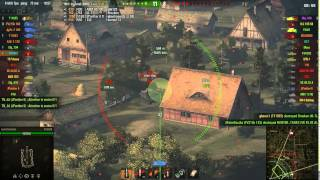 FV3805 artillery gameplay - Ace Tanker - World of tanks 9.7 xvm mod pack