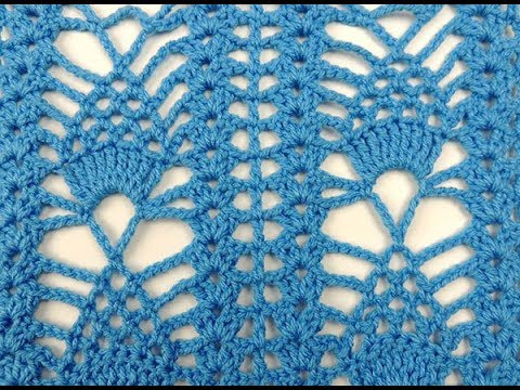 Crochet: Punto Piña # 3 - YouTube