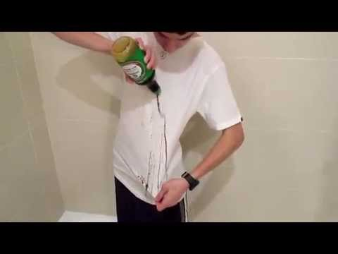 Stain resistant t shirt youtube for Remove red stain from white shirt