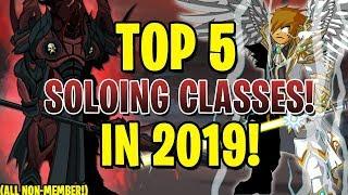 AQW - TOP 5 BEST SOLOING Classes in 2019! (Non-Member) + GAMEPLAY!