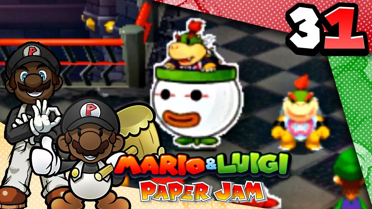 mario and luigi paper jam bowser jr