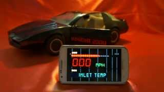KITT KNIGHT RIDER 2000 CAR MICHAEL KNIGHT K.I.T.T. K.A.R.R. VOICE BOX CELL PHONE APP