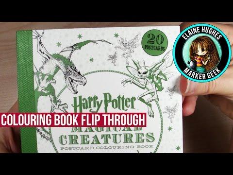 harry-potter-magical-creatures-postcard-colouring-book-flip-through