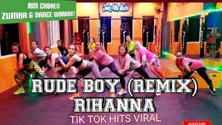 Rude Boy Klean Remix Rihanna Tik Tok Hits Viral Rulya Masrah Zumba Dance Workout Choreo