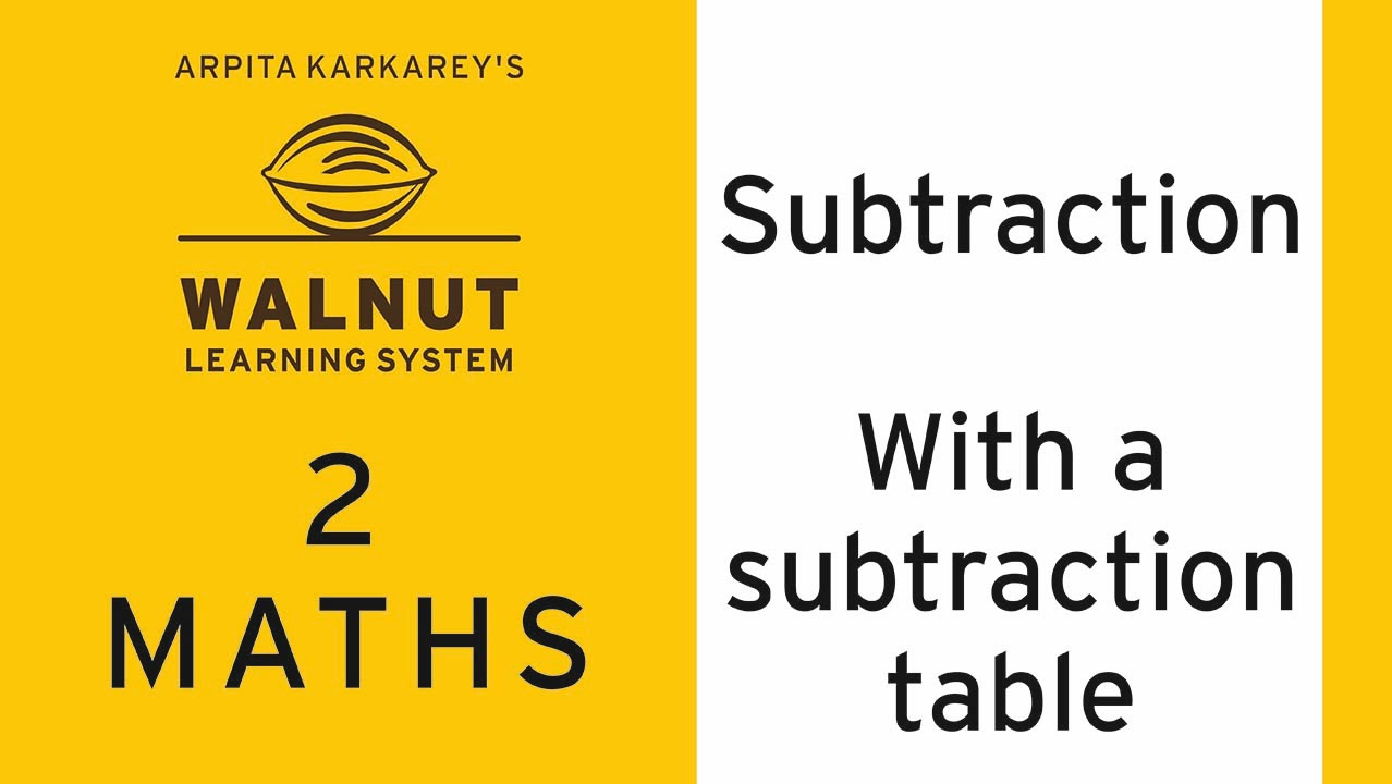 2 Math Subtraction With a subtraction table YouTube – Subtraction Table